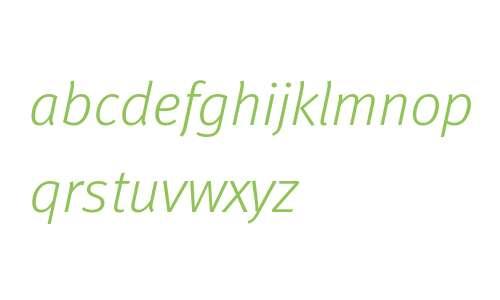 Meta W07 Light Italic