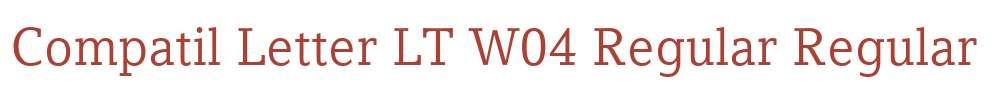 Compatil Letter LT W04 Regular