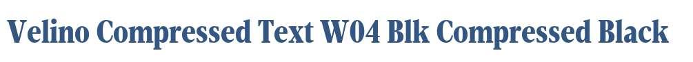 Velino Compressed Text W04 Blk