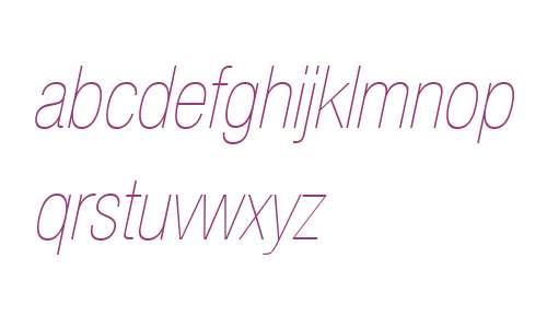 Helvetica Neue LT Com 27 Ultra Light Condensed Oblique V2