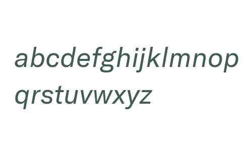 GT America Regular Italic