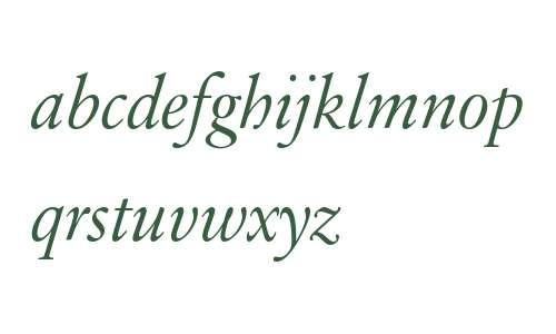 Sabon Next LT W04 Disp Italic