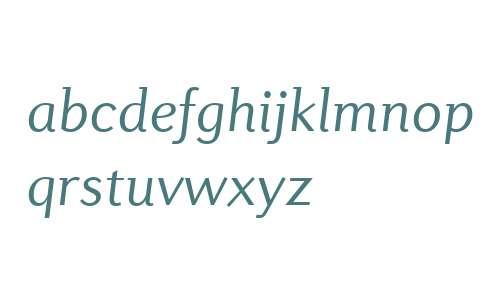 Diverda Sans W04 Light Italic