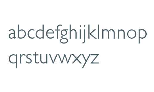 Gill Sans* MONOTYPE Light