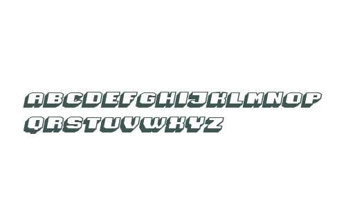 Magia 3D Hollow Italic