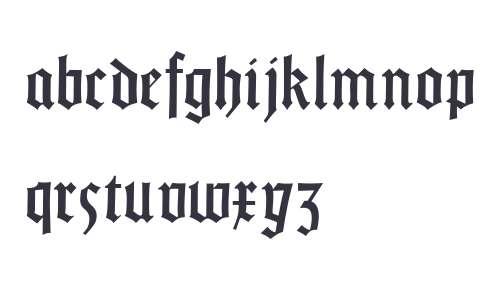 Gotisch Weiss UNZ1A Italic
