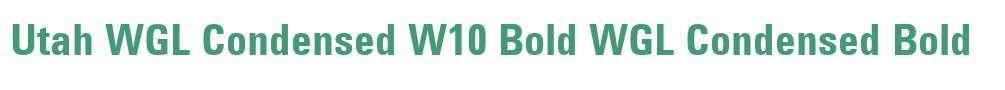 Utah WGL Condensed W10 Bold