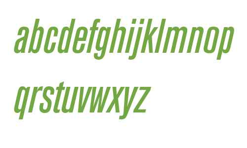 Berthold Akzidenz Grotesk BE Medium Condensed Italic