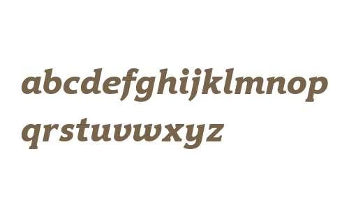 Hybrid ExtraBold W08 Italic