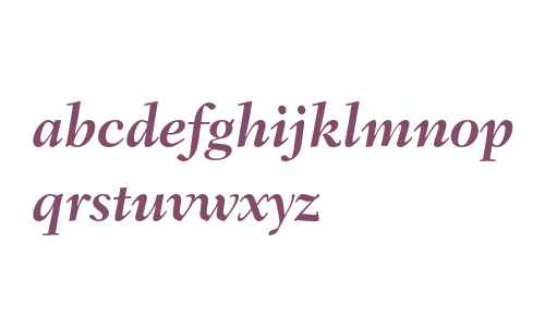 Fairfield LH 76 Bold Italic