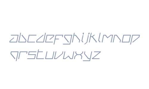 VanBerger W00 Italic