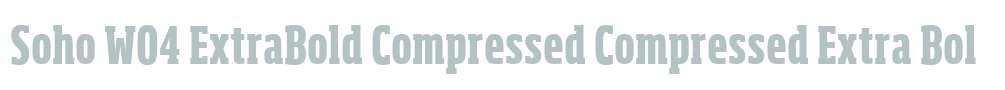 Soho W04 ExtraBold Compressed