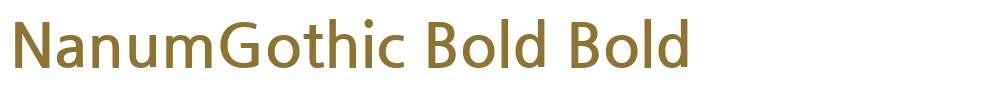 NanumGothic Bold