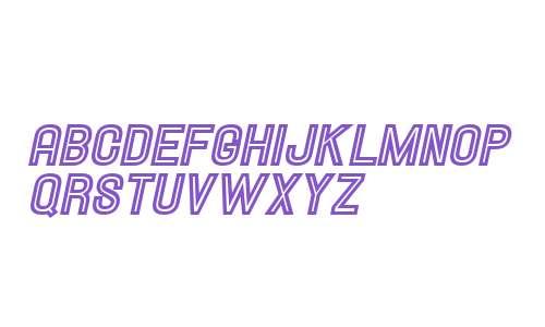 Hallandale Inline Italic JL V1