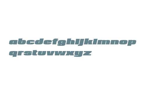 Loft W01 Extra Bold Italic