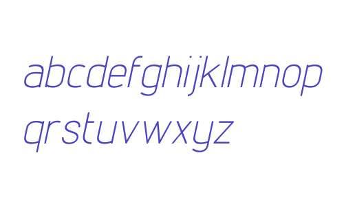 Lintel W00 Light Italic