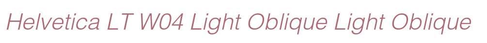 Helvetica LT W04 Light Oblique