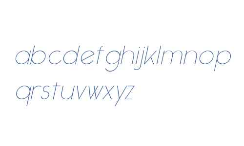 Ealing ThinItalic W00 Regular