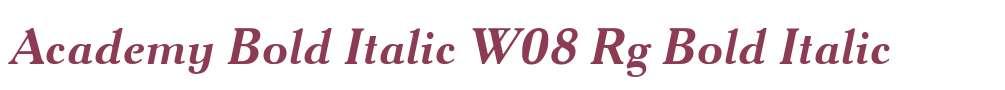 Academy Bold Italic W08 Rg