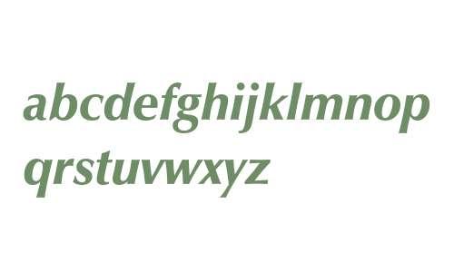 Zapf Humanist 601 Ultra Italic