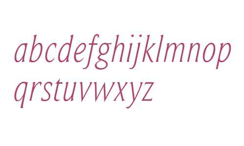 BeaufortCondensedLight-Italic
