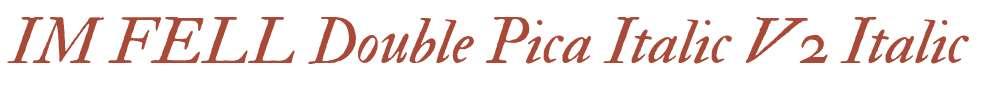 IM FELL Double Pica Italic V2