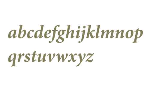 Minion Pro Bold Italic
