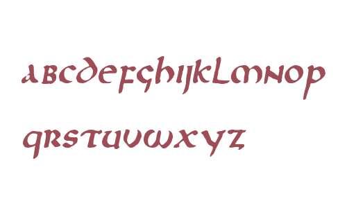 Northumbria W00 Italic