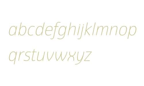 Eigerdals W00 Thin Italic