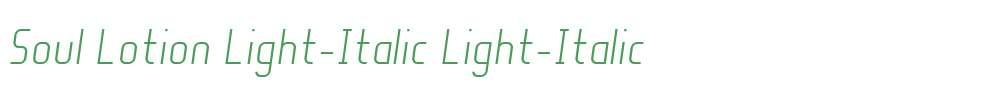 Soul Lotion Light-Italic