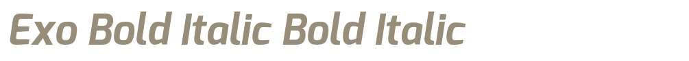 Exo Bold Italic
