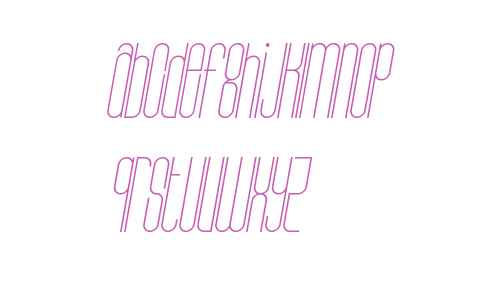 Bohema-Uppercase-Light-Italic
