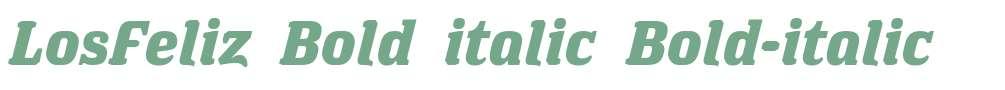 LosFeliz Bold italic