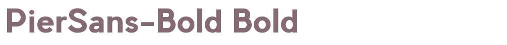 PierSans-Bold
