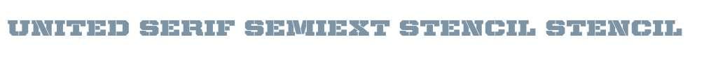 United Serif SemiExt Stencil