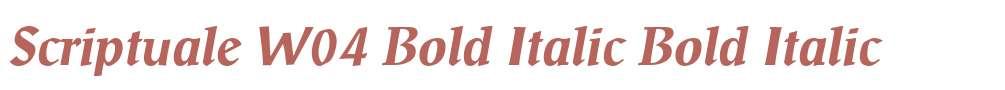 Scriptuale W04 Bold Italic