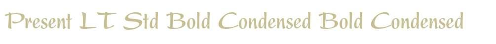 Present LT Std Bold Condensed