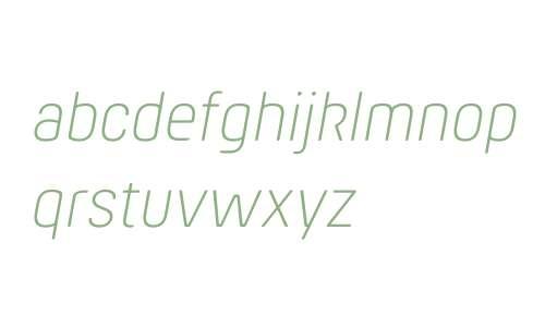 Hansom FY W03 Light Italic