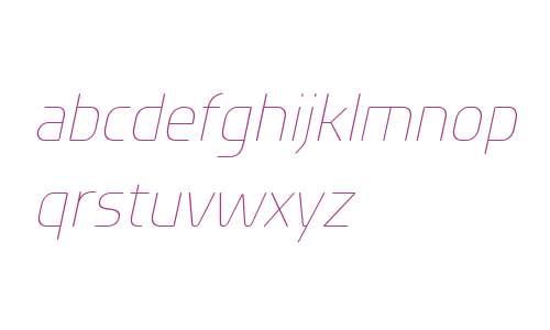Planer W00 ExtraLight Italic
