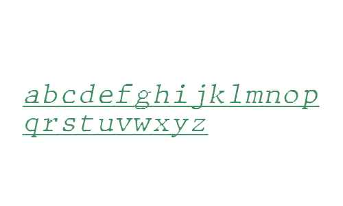 JMH Typewriter mono Fine Under Italic