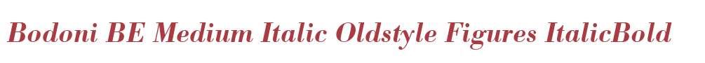 Bodoni BE Medium Italic Oldstyle Figures