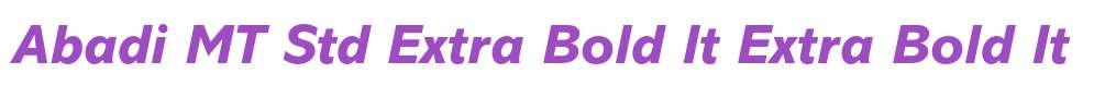 Abadi MT Std Extra Bold It