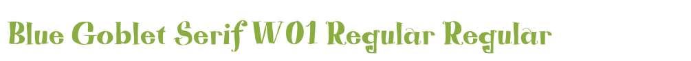 Blue Goblet Serif W01 Regular