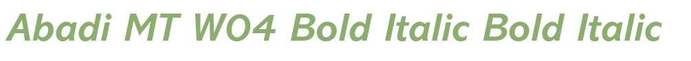 Abadi MT W04 Bold Italic