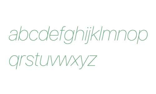 SF Pro Display Ultralight Italic