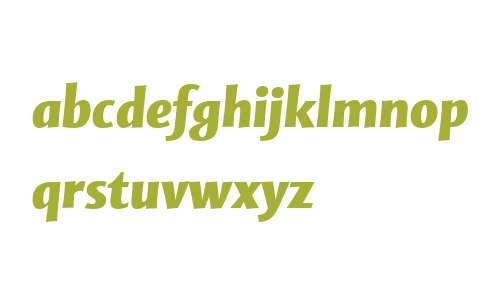 Mentor Sans W04 Black Italic