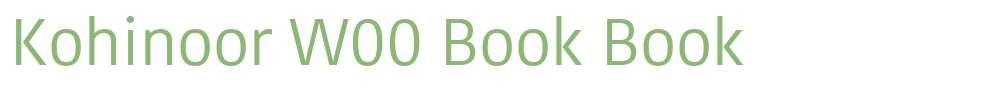 Kohinoor W00 Book