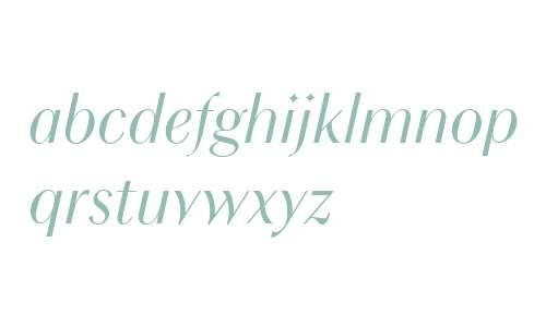 Chong Modern W01 Italic