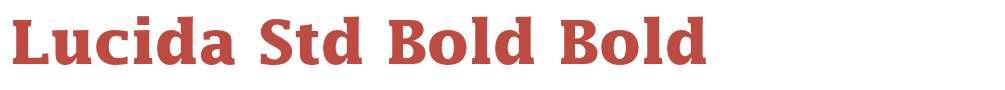 Lucida Std Bold