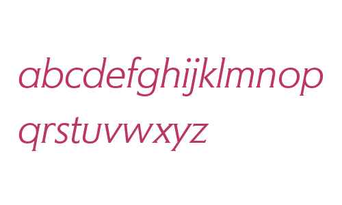 Memo W04 Light Italic